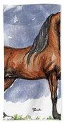 The Bay Arabian Horse 17 Beach Towel