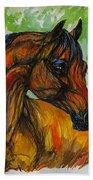 The Bay Arabian Horse 3 Beach Towel