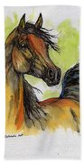 The Bay Arabian Horse 5 Beach Towel