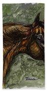 The Bay Arabian Horse Beach Towel