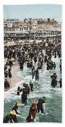The Beach At Atlantic City 1902 Beach Towel