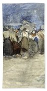 The Beach Berck Sur Mer Beach Towel by Patty Townsend Johnson