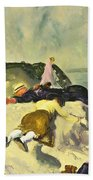 The Beach Newport Beach Towel by George Wesley Bellows