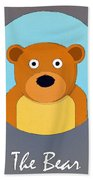 The Bear Cute Portrait Beach Towel