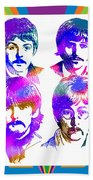 The Beatles Art Beach Towel