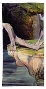 The Beautiful Narcissus Beach Towel by Honore Daumier