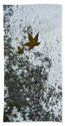 The Beauty Of Autumn Rains - A Vertical View Beach Towel