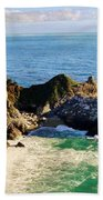 The Beauty Of Big Sur Beach Towel