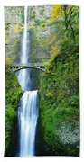 The Beauty Of Multnomah Falls Beach Towel