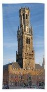 The Belfry Of Bruges Beach Towel