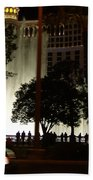 The Bellagio At Night Beach Towel