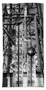 The Bells Of Coney Island In Black And White Beach Towel