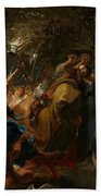 The Betrayal Of Christ Beach Towel by Anthony Van Dyck