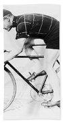The Bicyclist - 1914 Beach Towel