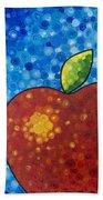 The Big Apple - Red Apple By Sharon Cummings Beach Sheet