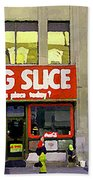 The Big Slice Pizzeria Downtown Toronto Restaurants Doner Kebob House Street Scene Painting Cspandau Beach Towel