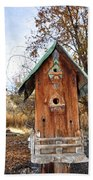The Birdhouse Kingdom - Spotted Towhee Beach Towel