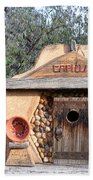 The Birdhouse Kingdom - The Evening Grosbeak Beach Towel