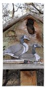 The Birdhouse Kingdom - The Geese A Swimming Beach Towel