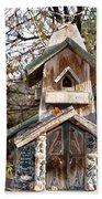 The Birdhouse Kingdom - The Red Crossbill Beach Towel