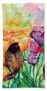 The Birds Of Spring Shower Blessings On You Beach Towel