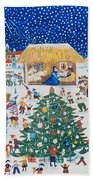 The Birth Of Christ Beach Towel