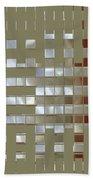 The Birth Of Squares No 1 Beach Towel by Ben and Raisa Gertsberg