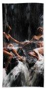 The Birth Of The Double Star. Anna At Eureka Waterfalls. Mauritius. Tnm Beach Towel