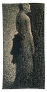 The Black Bow Beach Towel by Georges Pierre Seurat