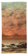 The Black Rocks At Trouville Beach Towel