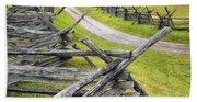 The Bloody Lane At Antietam Beach Sheet