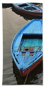 The Blue Boat Beach Towel by Kim Bemis