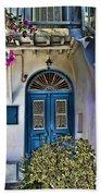 The Blue Door-santorini Beach Towel