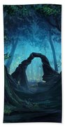 The Blue Forest Beach Towel by Cassiopeia Art