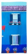 The Blue House Burano Beach Towel