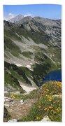 The Blue Vasilashko Lake Pirin National Park Bulgaria  Beach Towel