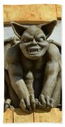 The Boardwalk Of Santa Cruz Gargoyles Beach Towel