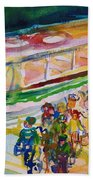 The Boat Trip, 1989 Wc On Paper Beach Towel