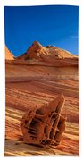 The Bone Yard In The North Coyote Buttes Beach Towel
