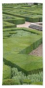 The Boxwood Garden At Chateau Villandry Beach Towel