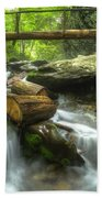 The Bridge At Alum Cave Beach Towel by Debra and Dave Vanderlaan
