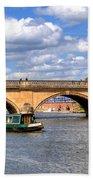 The Bridge At Henley-on-thames Beach Towel