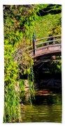 The Bridge In The Japanese Garden Beach Towel