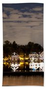 The Bright Lights Of Boathouse Row Beach Towel