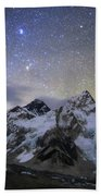 The Bright Stars Of Auriga And Taurus Beach Towel