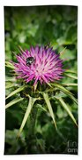 The Bug And The Thistle Beach Towel