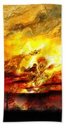 The Burning - Digital Paint Beach Towel