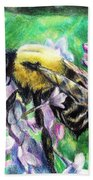 The Busy Bee And The Lilac Tree Beach Towel