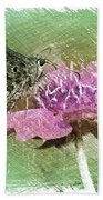 The Butterfly Visitor Beach Towel