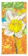 The Buzzing Life Of A Spring Narcissus Beach Towel